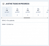 Agenda to show the project name next to the task